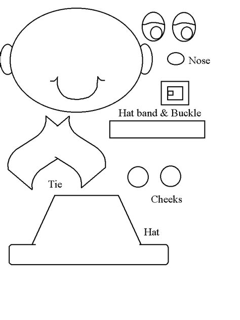 pilgrim hat cut out template easy pilgrim craft
