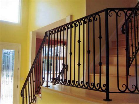 Stair Banister Kits Wrought Iron Stair Railings For Creating Awesome Looking