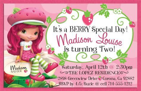 Strawberry Shortcake Invitation Free Strawberry Shortcake Invitation Template Free