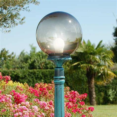 sfere illuminazione giardino orione s25 palo lione sfera globo d25 illuminazione