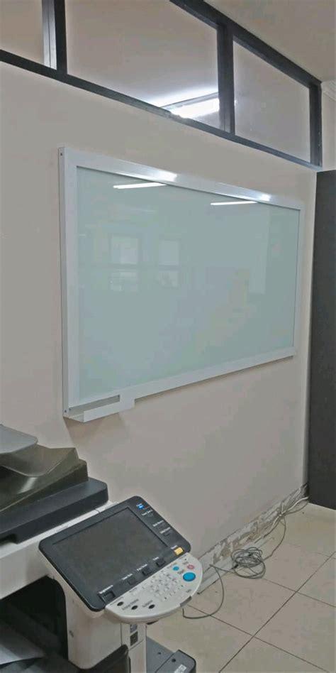 jual papan tulis kaca glassboard pakai frame uk
