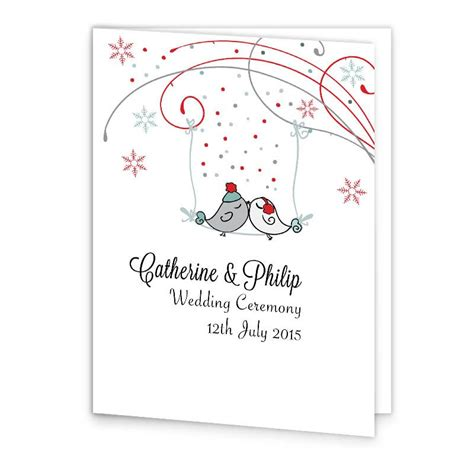 mass booklets templates for weddings winter romance wedding mass booklet cover loving invitations