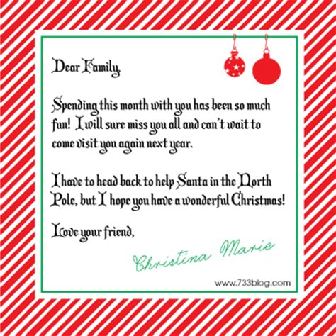 printable goodbye letter to elf on the shelf elf on the shelf goodbye letter seven thirty three