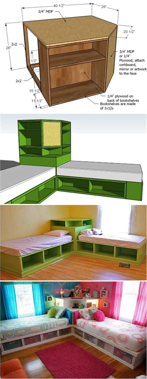 twin storage beds for kids how to diy corner unit for the twin storage bed kids