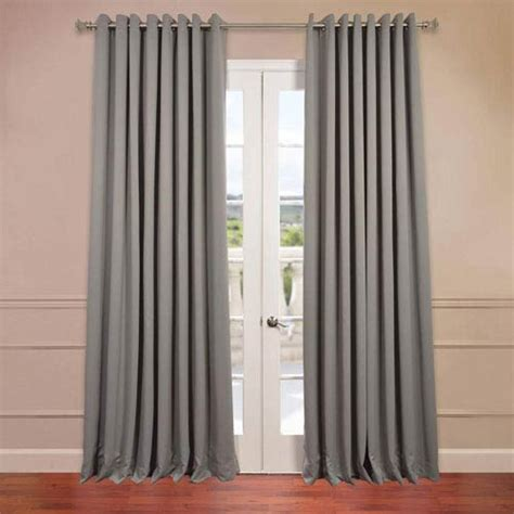 curtains 125 inches long grey 84 x 100 inch double wide grommet blackout curtain