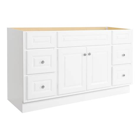 Hton Bay Bathroom Vanities Glacier Bay Hton 60 In W X 21 In D X 33 1 2 In H Bath Vanity Cabinet Only In White Hwh60dy