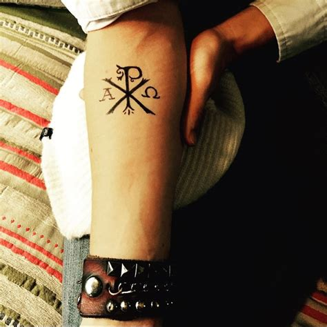 chi rho tattoo 50 chi rho designs and meanings