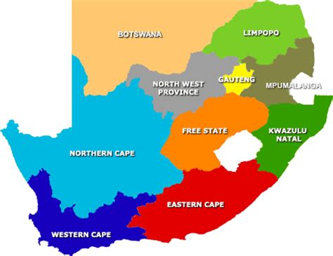 regional map of south africa south africa map and south africa satellite images