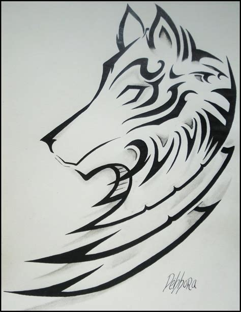 imagenes para dibujar tribales lobo tribal by debbora95 on deviantart