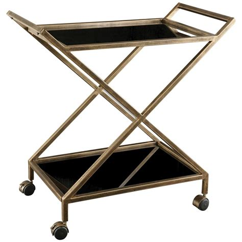 modern bar cart modern classic antique gold black glass bar cart kathy kuo home