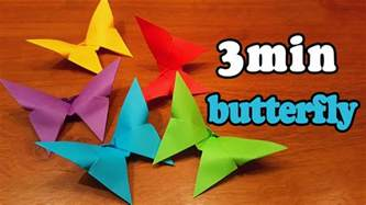 5 Minute Origami - how to make an easy origami butterfly in 3 minutes 5