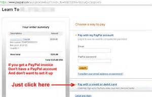 How to pay with paypal without a paypal account