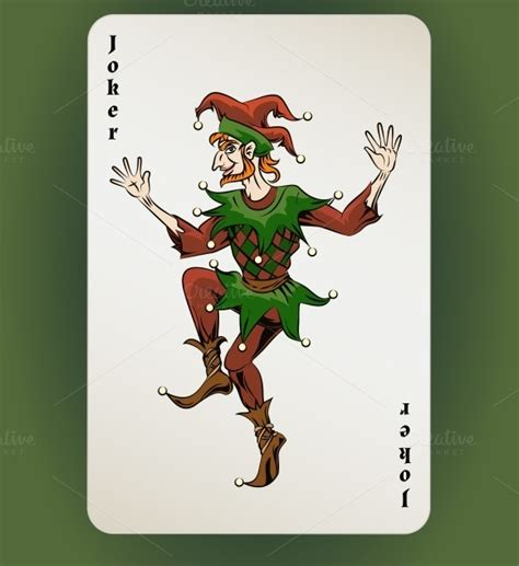 joker card template joker card illustrations on creative market