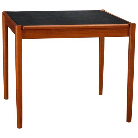 Flip Top Tables Dining Tables Vintage Teak And Leather Flip Top Dining Table At 1stdibs