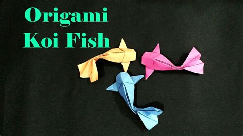 How To Make Koi Fish Origami - how to make a 3d origami koi fish versi on the spot