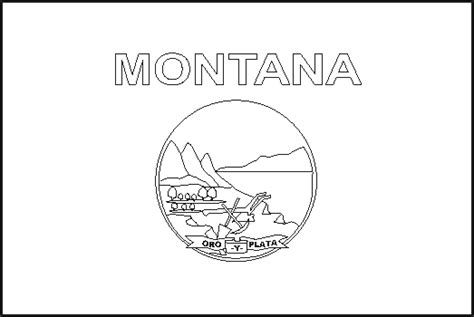 Montana State Flag Coloring Page montana state flag coloring pages usa for