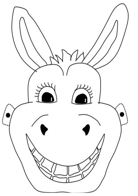 printable animal masks donkey donkey mask craft n home