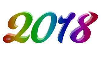 The Year 2018 2018 New Year Number Illustration Free Stock Photo