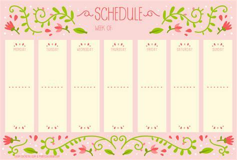 printable weekly planner retro weekly schedule with vintage flower design free