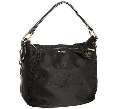 Jacquard Shoulder Bag by Prada Black Logo Jacquard Hobo Shoulder Bag In Black