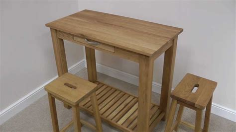 Oak Breakfast Bar Table Tutbury Oak Breakfast Bar Table Stool Set