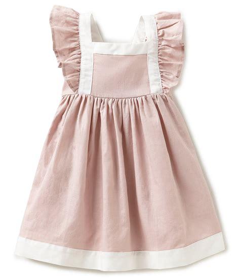 edgehill collection 2t 4t linen flutter sleeve dress dillards