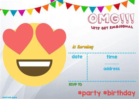 Free Printable Emoji Invitation Template Free Printable Birthday Invitation Pinterest Birthday Invitation Templates Free
