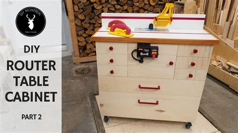 router cabinet diy router table build part  youtube