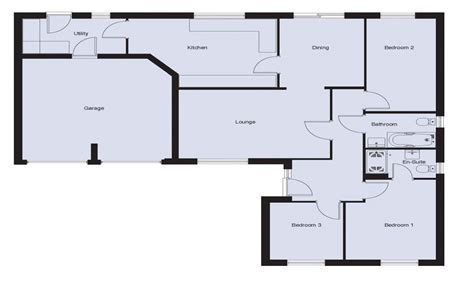 Three Bedroom Bungalow House Plans by Plan 3 Bedroom Bungalow 3 Bedroom Bungalow Floor Plans 3