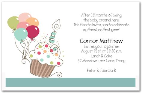 boy birthday invitation letter boy s cupcake balloons birthday invitation cupcake invitations