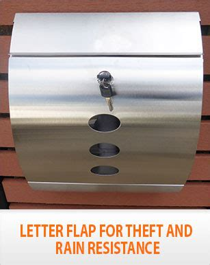 Theft Proof Letter Boxes New Timber Pillar Letterbox Hendon Stainless Steel Mailbox Wall Mount Ebay