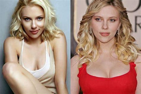 blake scarlett gisele and more celebs plastic surgery nose job scarlett johansson breast implants before after