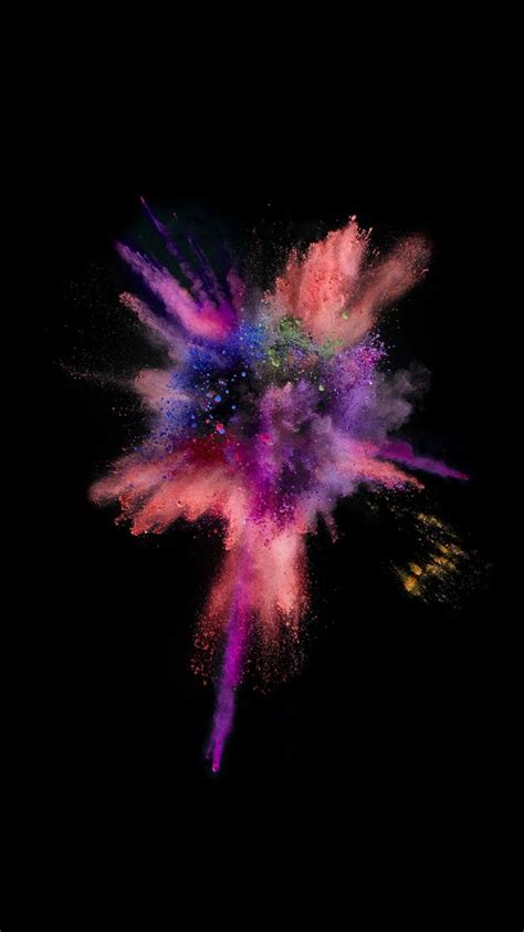 colorful explosion wallpaper ios9 colorful explosion smoke dark iphone 6 wallpaper