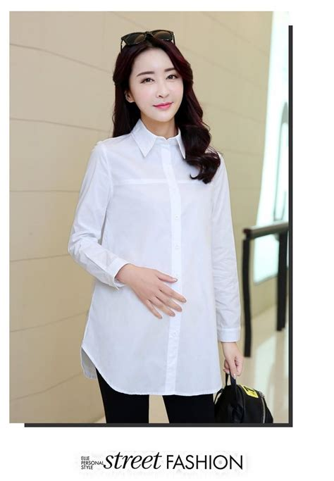work clothes for pregnant women maternity tops white blouse shirts for pregnant women