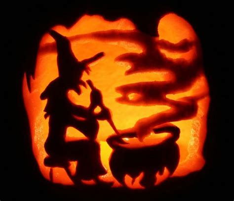 witch pumpkin carving stencils