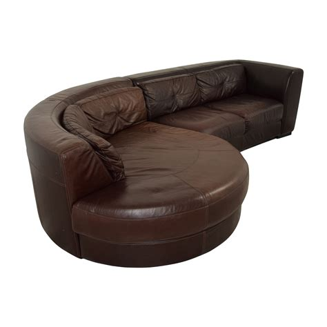 Curved Sectional Leather Sofa 70 Chateau D Ax Chateau D Ax Leather Sectional With Curved Chaise Sofas