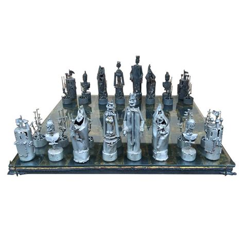 unique chess sets for sale custom bruce friedle chess set with original receipt for
