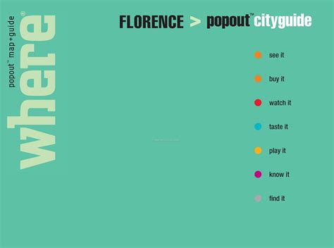 florence popout map handy restaurant guides featuring popout maps city guide florence wholesale china