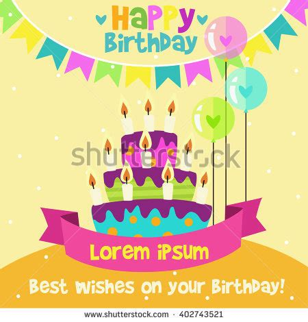 birthday candle card template stock images royalty free images vectors