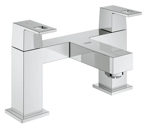 bathroom taps grohe grohe eurocube two handled bath filler tap 25136000