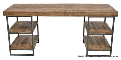 Wood And Metal Desks by 67 Quot Desk Home Office Table Industrial Reclaim Wood Metal