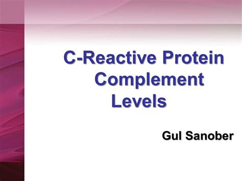 c protein test results autoimmunity and autoantibody test ppt