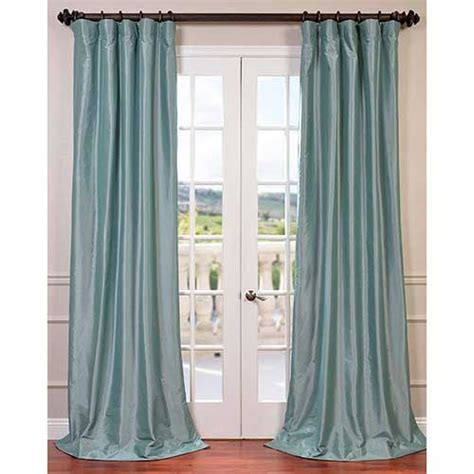 blue faux silk curtains half price drapes robins egg blue 96 x 50 inch blackout