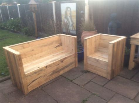 bench chair pallet garden bench and chair