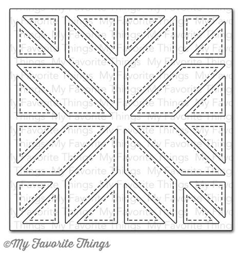 Quilting Dies by Die Namics Quilt Square Cover Up