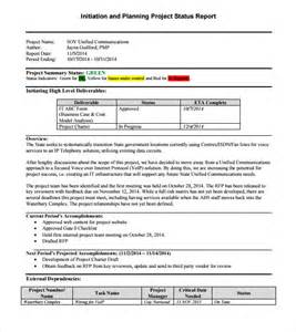 project manager status report template sle project status report 14 exles format