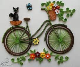 how to make quilling bicycle with flowers craft community