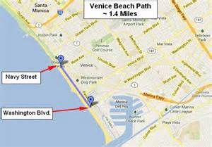 map of venice california california map venice
