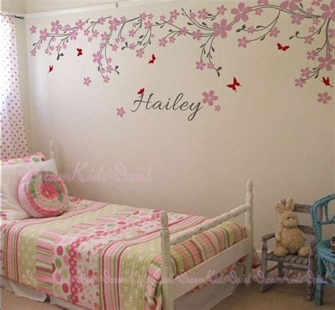Nursery Wall Name Decals Nursery Wall Decal Baby And Name Wall Decals Cherry