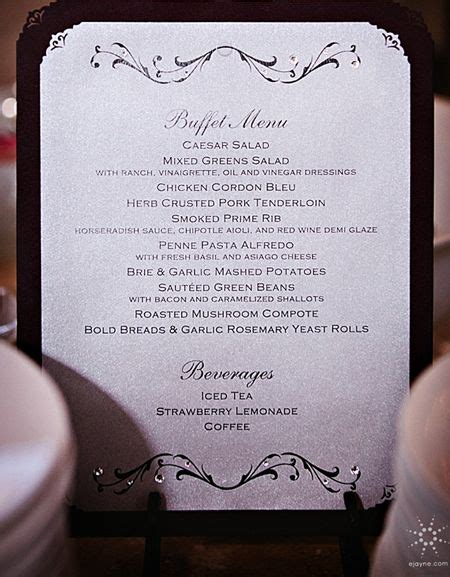 1000 Ideas About Wedding Buffet Menu On Pinterest Buffet Menu Cards